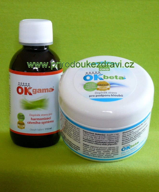OK Beta plus 150 g + OK Gama plus 115 ml (Kosti a klouby)