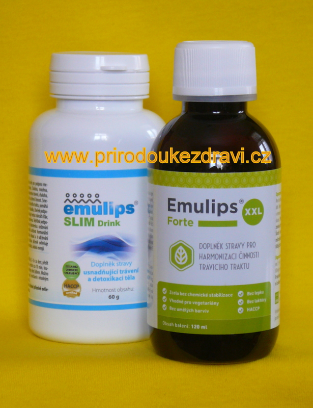 OKG Emulips Forte XXL 120 ml + Emulips Slim drink 60 g (Sada na hubnutí)