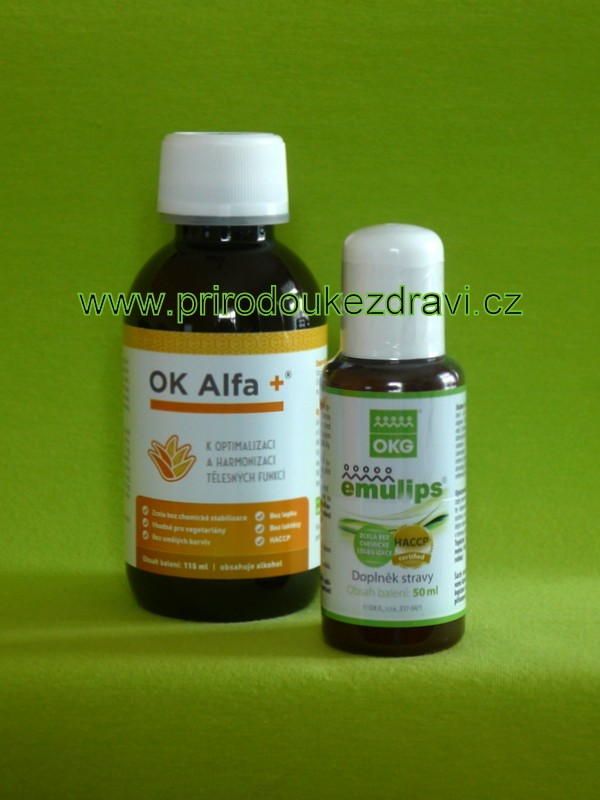OK Alfa plus 115 ml + Emulips 50 ml