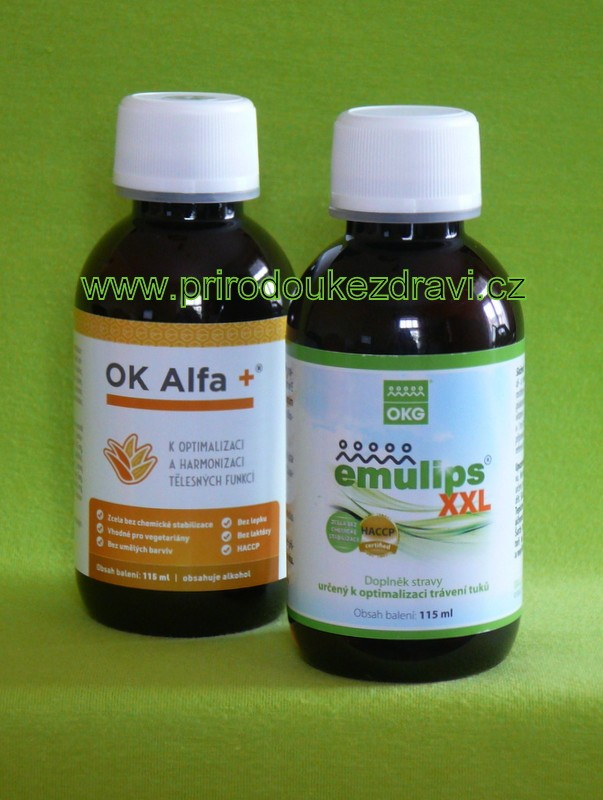 OK Alfa plus 115 ml + Emulips XXL 115 ml