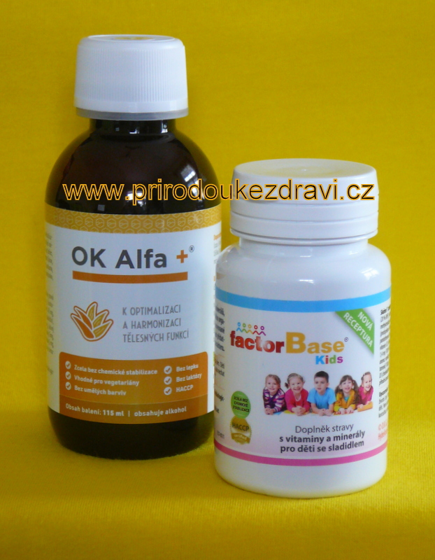 OK Alfa plus 115 ml + Factor Base Kids 60 ks
